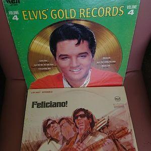 6 Vintage vinyl records bundle  preowned Elvis